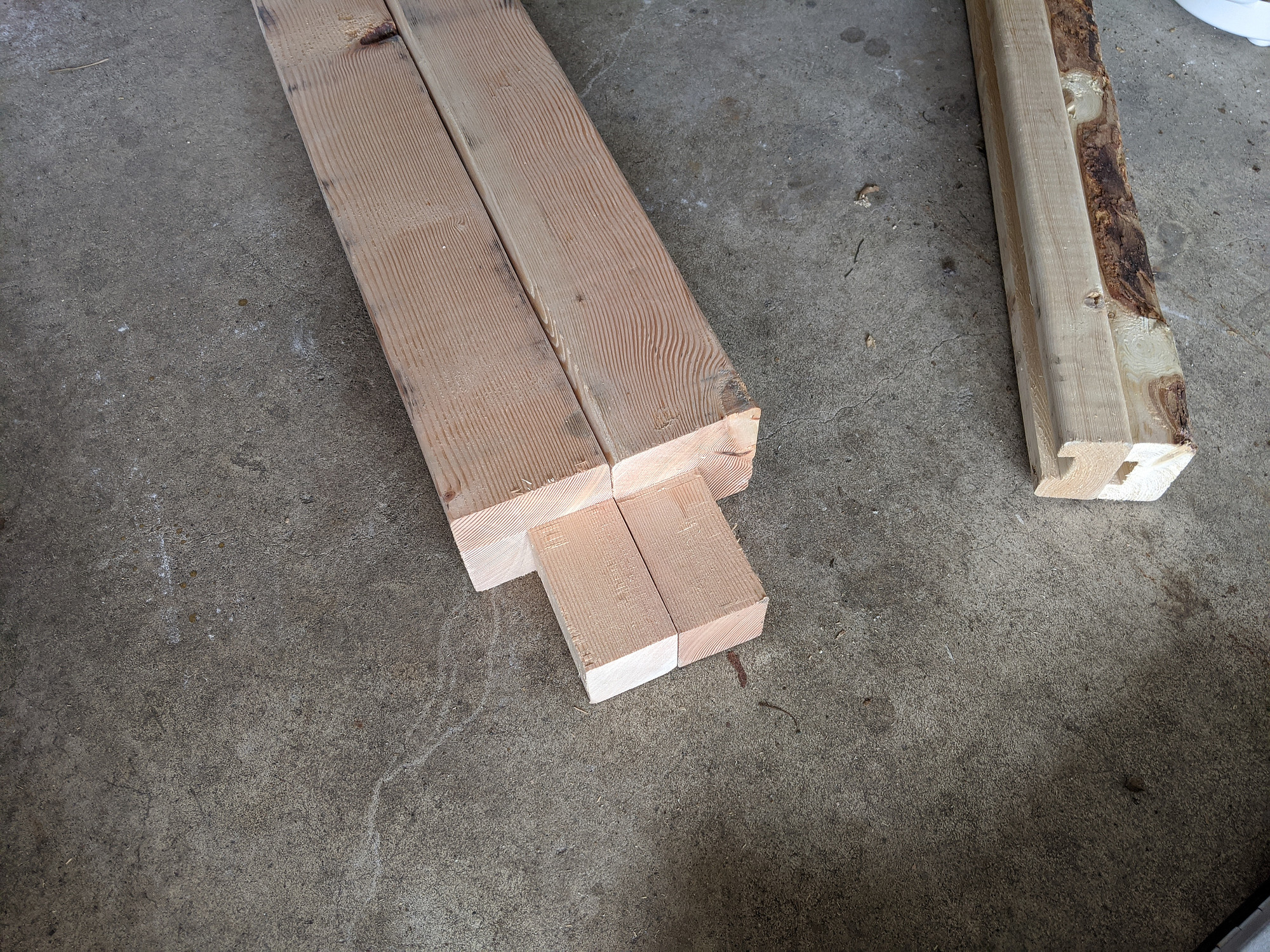 Cut 4x4s for assembly